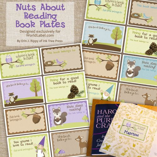 cute free book plate labels for kids by inktreepresscom in fillable editable pdf templates - Free Kid Books