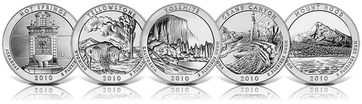 For people who like silver coins, the America the Beautiful 5 oz silver coins will be most prized. America the Beautiful Silver coins come in two version which are the bullion and uncirculated version 5-oz Silver coins.
