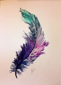 Detailed feather design