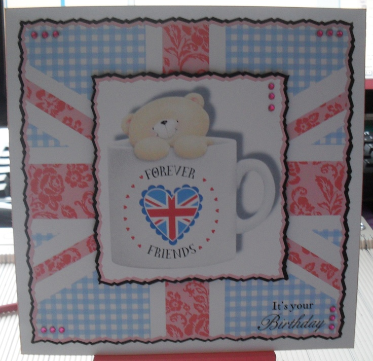 BIRTHDAY CARD USING DOCRAFTS BEST OF BRITISH DVD ROM
