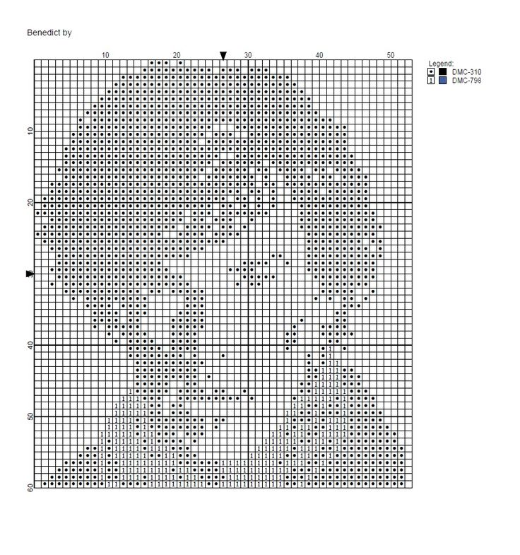 Free Sherlock pattern.  Tweaked from an existing pattern while trying to learn how to use PC Stitch.  2 colours, 53*60 stitches.    Enjoy!!  Feel free to share! :)