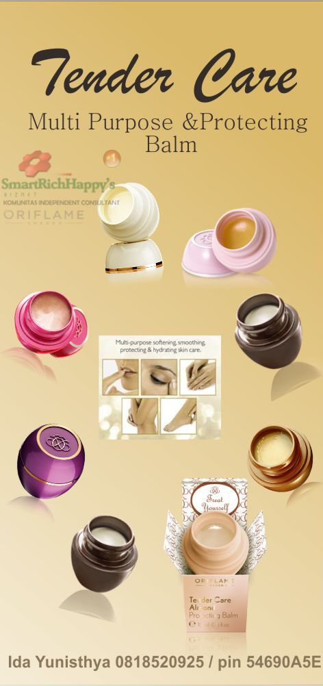 TENDER CARE Oriflame Multi Purpose & Protecting Balm. The Legend Oriflame, Multi-purpose softening, smoothing, protecting & hydrating skin care. For many testimonials let's see this http://idayunisthyaputri.com/tender-care-oriflame-multi-purpose-balm-produk-perawatan-kulit-legendaris-oriflame. for further information please contact : Ida yunisthya Putri 0818520925 / pin 54690a5E #Oriflame #TenderCare #MultiPurposeBalm #Protecting Balm