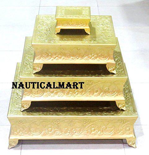 "Nauticalmart Brass Finish Wedding Cake Stand Set Of 22"", ... https://www.amazon.co.uk/dp/B07414WF8Y/ref=cm_sw_r_pi_dp_x_WvD6zb55VBMDT"