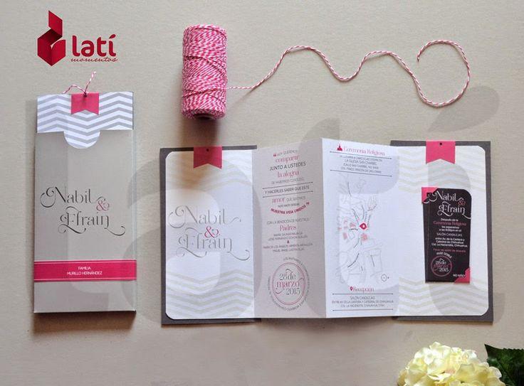 Latí Momentos: Invitaciones Minimalistas, Minimalist, Wedding Stationary