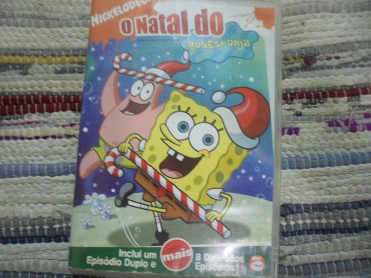 """DVD original. """"O Natal do Bob Esponja"""". 1 episódio duplo + 8 divertidos episódios. .2.0 Dolby Surround; tela cheia, colorido, 110 min. aprox.; ,Livre."""