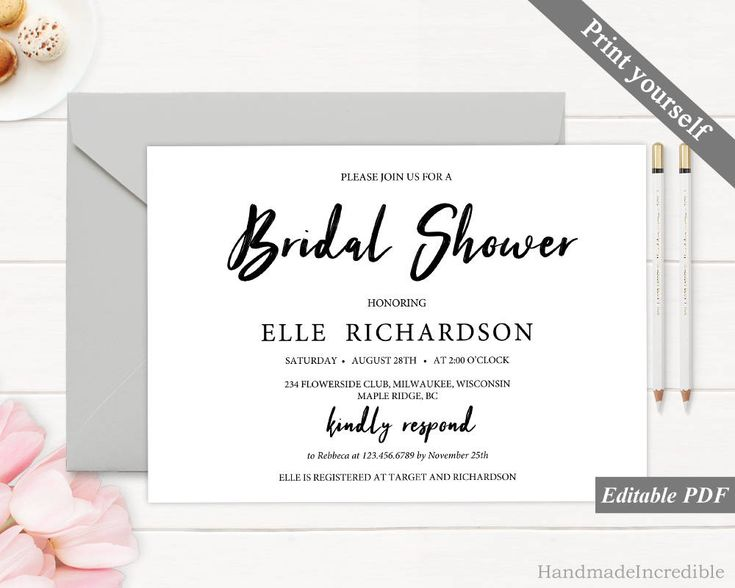 167 best Bridal Shower Invitation images on Pinterest Invitation - bridal shower invitation templates