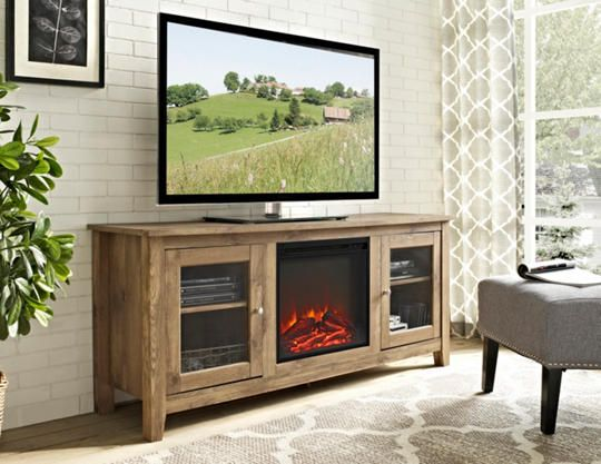 Enjoyable Levi 58 Barnwood Fireplace Cottage Decor Tv Stand Download Free Architecture Designs Terstmadebymaigaardcom