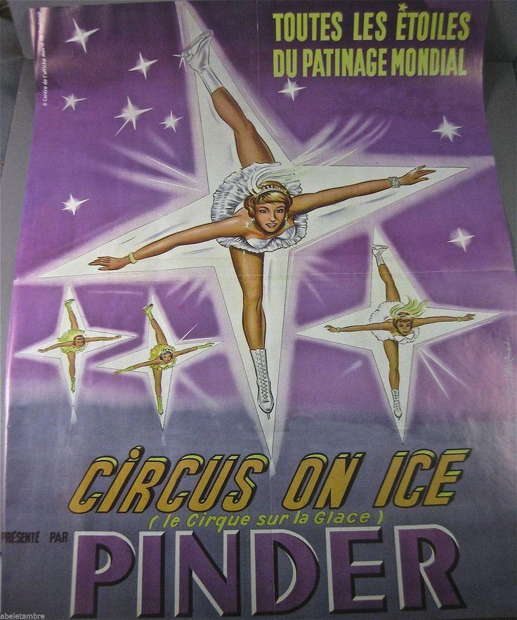 Affiche DU Cirque Pinder Circus ON ICE Dessin DE Tony Barhnat | eBay