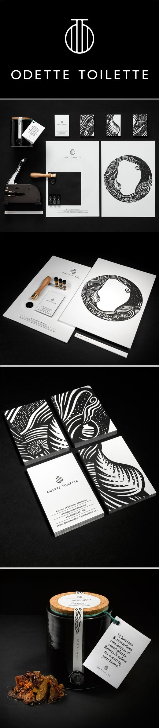 Odette Toilette I'm a sucker for black and white #identity #packaging #branding PD