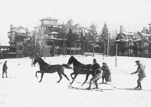 Image result for skijoring old vintage