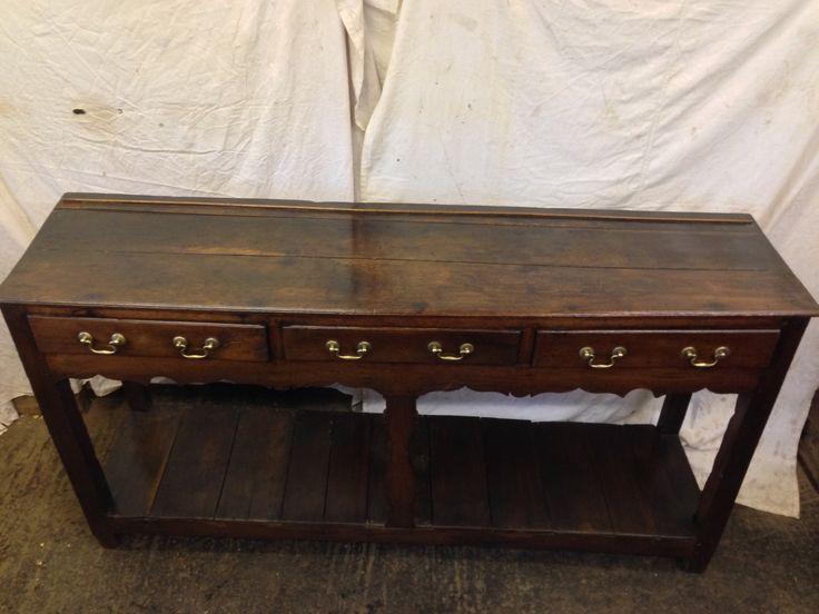 18th century Georgian oak 3 draw pot cupboard