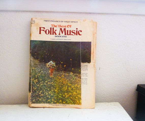 New to 6thandDurianVintage on Etsy: First omnibus of folk music paperback sheet music old book 1960s hippie music country music guitar playing old sheet music (5.00 USD)