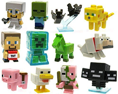 "Minecraft Mystery Mini Stone Series 2 Minecraft Set of 12 1"" Mini Figures Minecraft http://smile.amazon.com/dp/B00UZLDI0S/ref=cm_sw_r_pi_dp_qEuswb1M4HX3G"