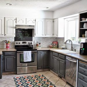 Two Colors Of Kitchen Cabinets