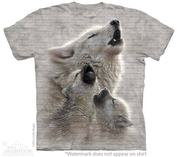 Singing Lesson T-Shirt - Wolf T-Shirts - Big Face Wolf T-Shirts - Wolves on t-shirts - wolf shirts - beautiful wolves - animal shirts with wolves - christmas presents - ideas for christmas presents
