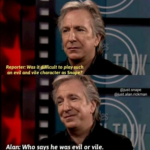 Here's the thing about this: Evil characters don't think they're evil. If you're the actor playing the villain, you have to think about your character in terms of how the character sees him/herself.