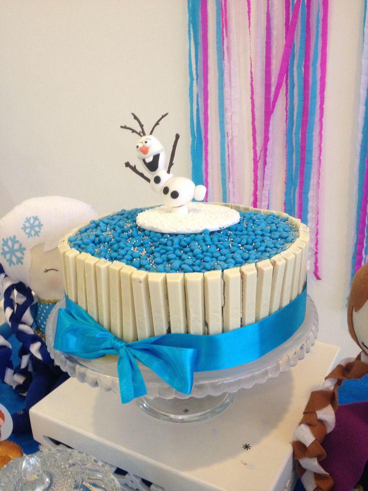 topo de bolo olaf