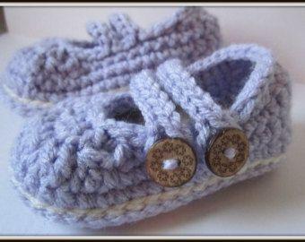 Zapatillas botitas de bebé zapatos de algodón por HeathersHobbies
