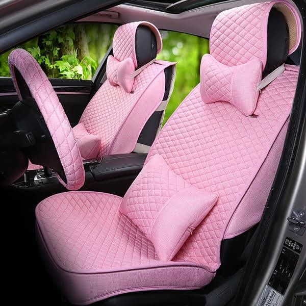 Car Seat Covers Seats Everything Pink Cars Accessories Steering Wheel Dream Motorbikes Decorations