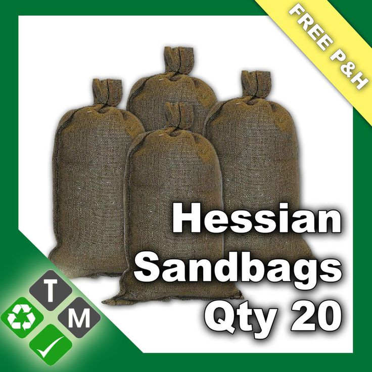 20 x Hessian Sandbags Flood Protection Defence Empty Sand Bags 84cm x 36cm