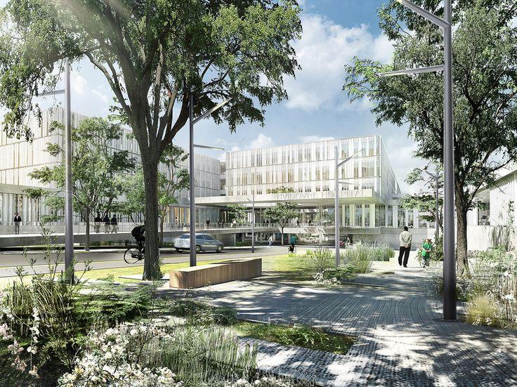 Nyt Hvidovre Hospital by aarhus arkitekterne #hospital #danisharchitecture #scandinavianarchitecture #healthcare #aarhusarkitekterne