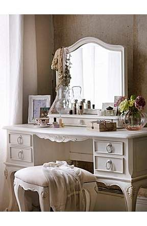 Not a huge fan of shabby chic throughout a room, but this dresser is lovely... would fit in mine and most bedrooms!