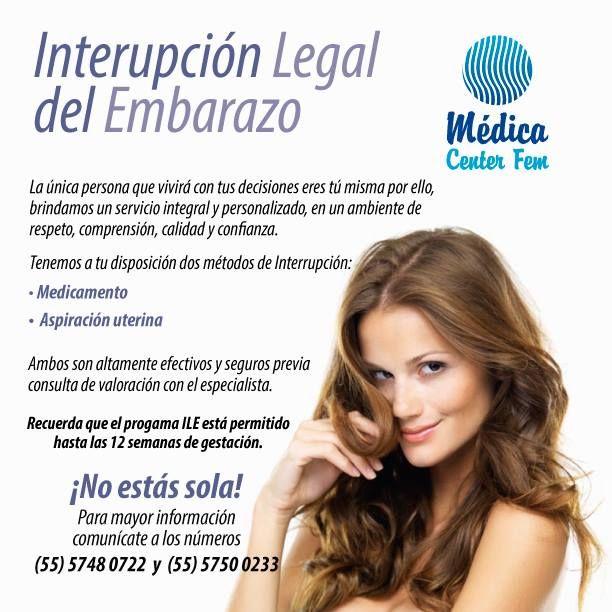 Conoce tus opciones en clinicas para aborto legal del programa ILE. http://www.medicacenterfem.com/