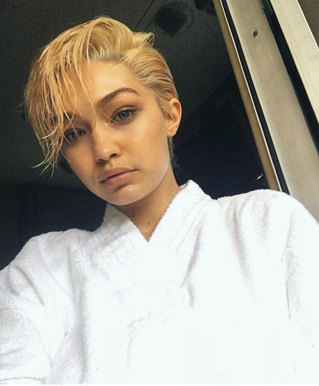 Short hair don't care. Check out @gigihadid's new look!   via GLAMOUR UK MAGAZINE OFFICIAL INSTAGRAM - Celebrity  Fashion  Haute Couture  Advertising  Culture  Beauty  Editorial Photography  Magazine Covers  Supermodels  Runway Models