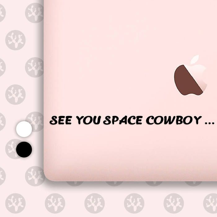 cowboy bebop, space cowboy, see you space cowboy, spike cowboy, spike cowboy bebop, ipad decal, anime decal, computer decal, phone decal by CactusDesignsCo on Etsy