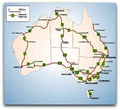 australia road map australia travel information
