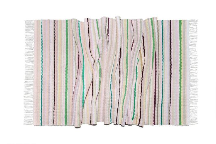 "Woven rug ""Apple blossom"". Nature inspires #babynakrasunia #woven #wovencarpet #rugs #carpet #natureencourages #colors #stripes #stylishcarpet #ecofriendlyfashion #handmade"