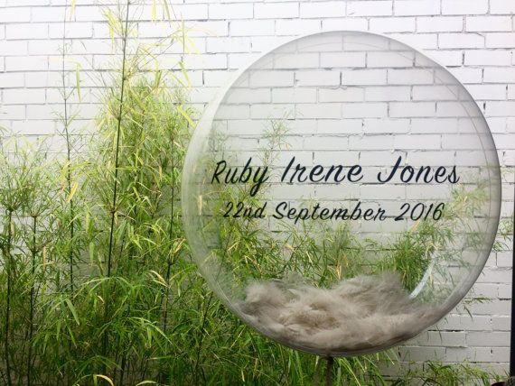 New Baby Announcement feather bubble by TheBalloonStudio