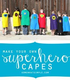 how to make your own super hero capes