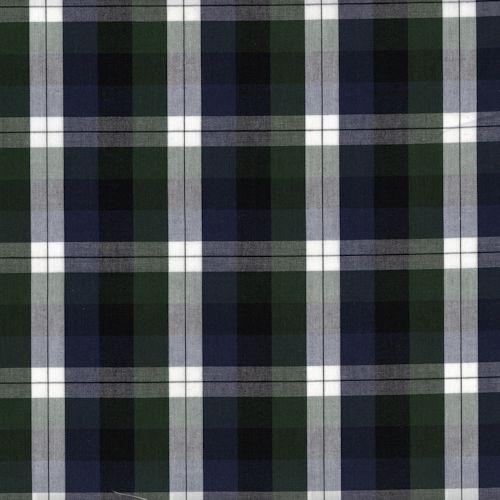 Distinctive Sewing Supplies - Ralph Shirting - Blue, Green, Black