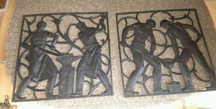 Antike Gusseisen Bilder Guss Platten Haushaltsauflösung Wohnungsauflösung  in Antiquitäten & Kunst, Metallobjekte, Eisen | eBay!
