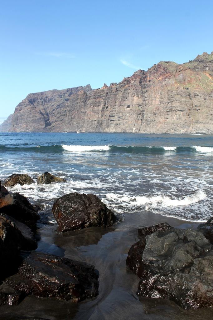 Los Gigantes, black sand  Tenerife  Canary Islands