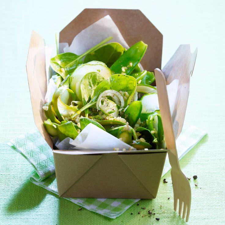 Découvrez la recette de la salade verde vinaigrette au gingembre