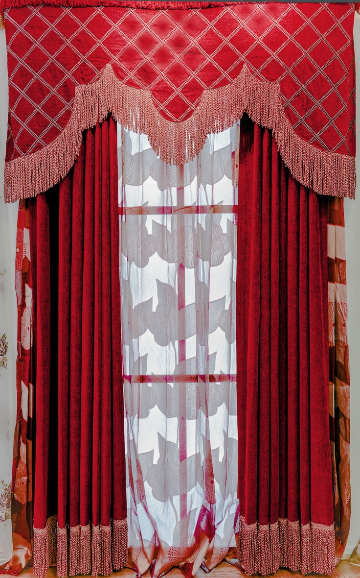 43 best images about red curtains on pinterest red for Red and gold drapes