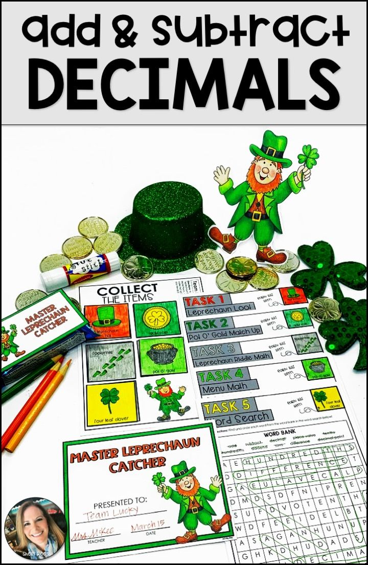 St Patrick S Day Math Centers Math Activities Subtraction Math Graphic Organizers [ 1104 x 720 Pixel ]