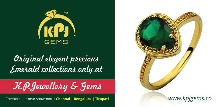 Original Elegant Precious EMERALD Collections Only at K.P. Jewellery & Gems For more details log on to http://goo.gl/pnZV18 Call :- +91 96001 17755 +K P Jewellery & Gems  #GemsandJewellery   #JewelleryShowRoom