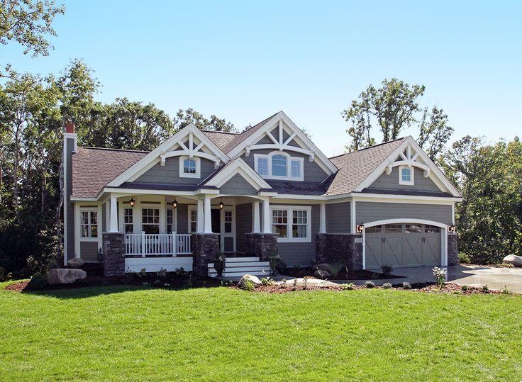 stunning craftsman home plan 23256jd craftsman northwest photo gallery - Craftsman Ranch Home Exterior
