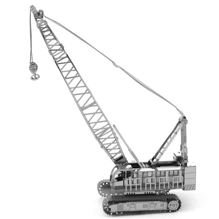 Crawler Crane Car Metal Model //Price: $15.95 & FREE Shipping //     #3DMetaltoys #Metal #Puzzle #3D #3DPuzzle #metalpuzzle #metalpuzzles #3dmetalpuzzles