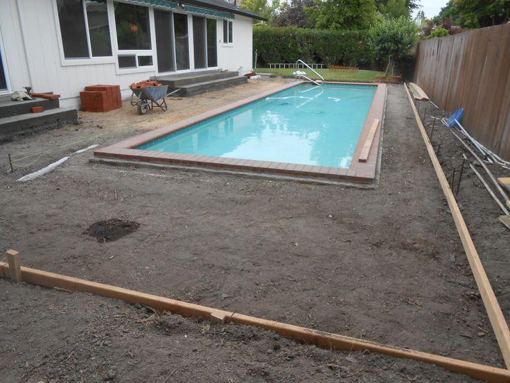 #Preparing the area for #brick installation in a #PoolDeck!! #Masonry #Construction #BayArea #Hardscape #Landscape