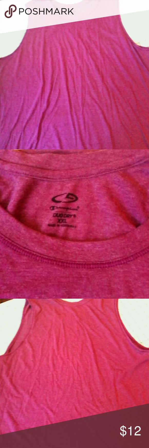 Champion Duo Dry Purple Tank Top XXL Sport Workout This is a tank top by Champion in a size XXL Rayon polyester fabric Style says Duo Dry Scoop neckline, deep armholes A deep red purple in color In excellent used condition Champion Tops Tank Tops