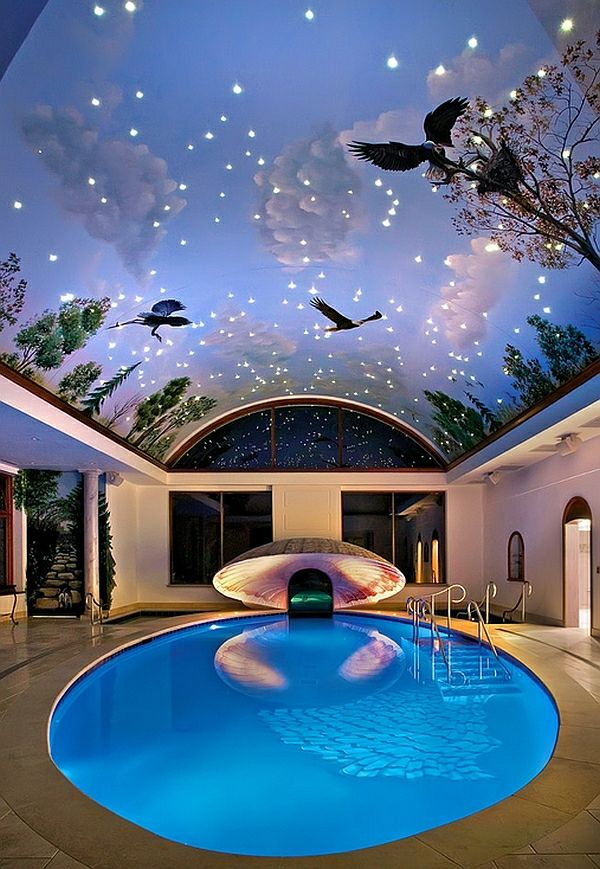 Pool at home – 50 design ideas for your own indoor pool