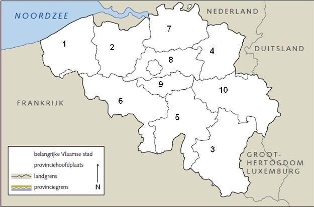 werkbladen provincies belgie - Google zoeken