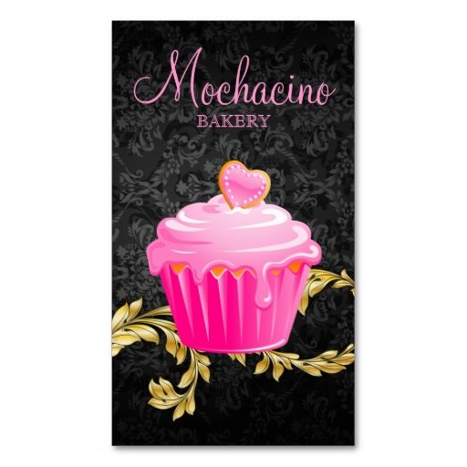 1108 best bakery business cards images on pinterest bakery 311 elegant bakery business card cupcake black gol reheart Choice Image