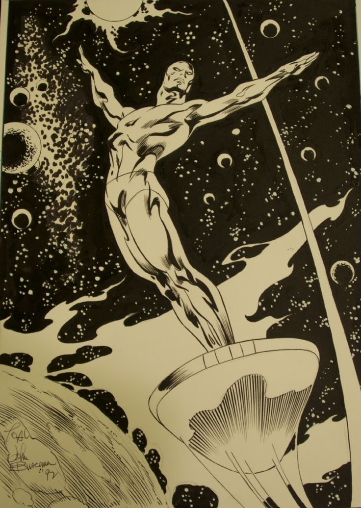 buscema draws silver surfer- the celestial hippy