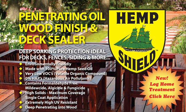 Hemp Shield - Wood Preservative and Deck Sealer | Eco Friendly Wood Preservative | Hemp Products | Low VOC Sealant