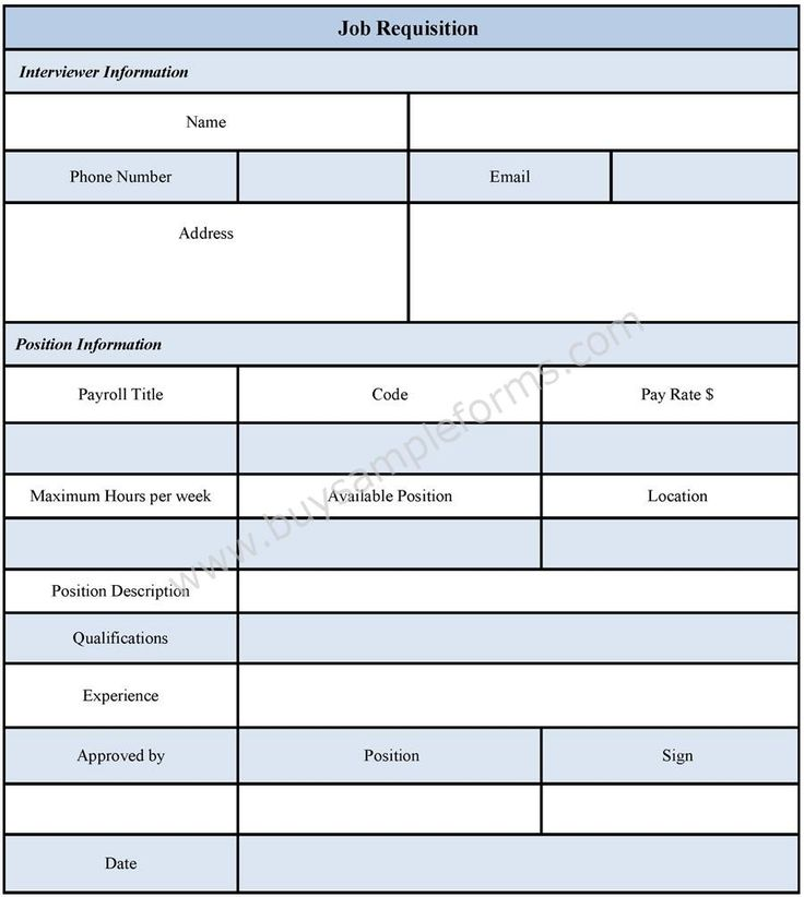 recruitment forms and templates